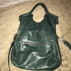 Foley & Corina Real Green Leather Bag